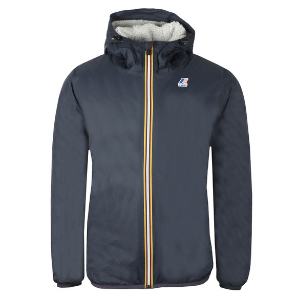K-Way Mens Blue Le Vrai Claude Orsetto Fleece Lined Jacket main image