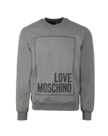 Love Moschino Mens Grey Box Logo Sweatshirt