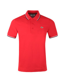 Lacoste Sport Mens Red YH7900 Tipped Polo Shirt