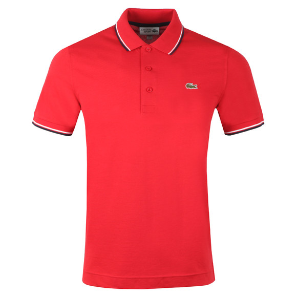 Lacoste Sport Mens Red YH7900 Tipped Polo Shirt main image