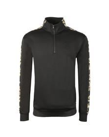 Sik Silk Mens Black Overhead Half Zip Racing Jacket