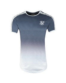 Sik Silk Mens Blue Taped Fade Gym Tee
