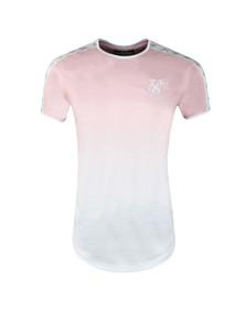 Sik Silk Mens Pink Taped Fade Gym Tee