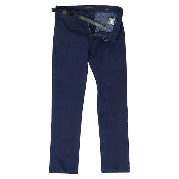 Scotch & Soda Mens Blue Garment Dyed Chino main image