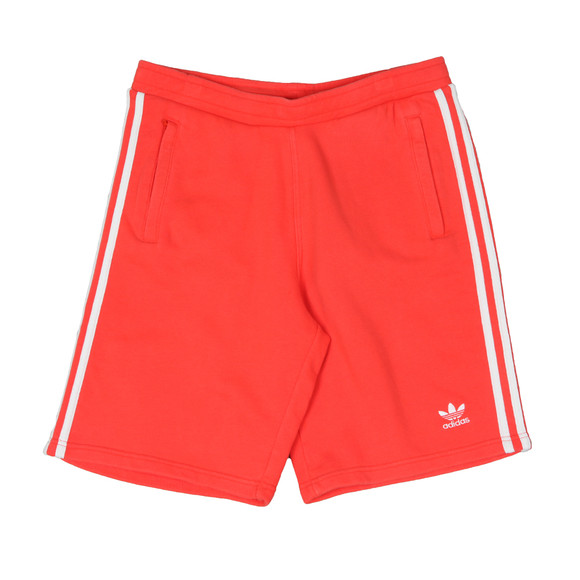 adidas Originals Mens Red 3 Stripes Sweat Short main image