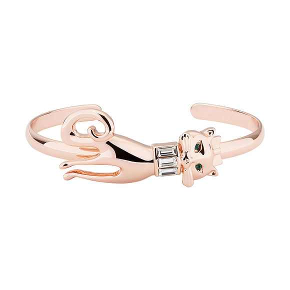 Ted Baker Womens Pink Rose Gold Sultan Glamour Puss Cuff main image