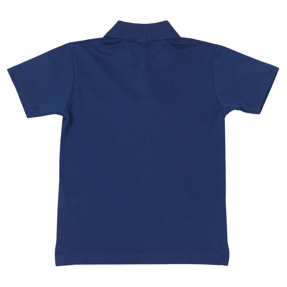 Paul & Shark Cadets Boys Blue Plain Pique Polo Shirt main image