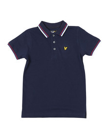 Lyle And Scott Junior Boys Blue Plain Tipped Polo Shirt