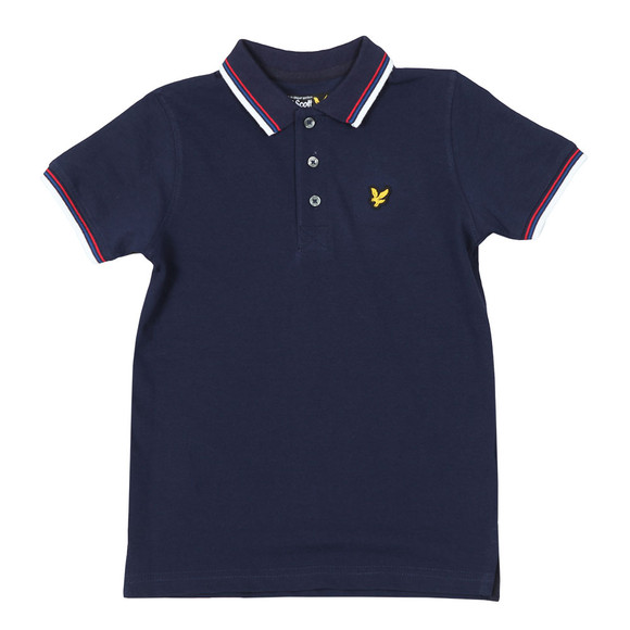 Lyle And Scott Junior Boys Blue Plain Tipped Polo Shirt main image