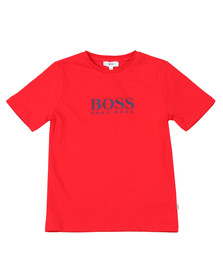 BOSS Boys Red Boys J25D13 Logo T Shirt