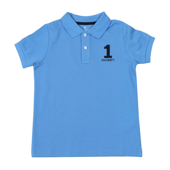 Hackett Boys Blue New Classic Number Polo main image