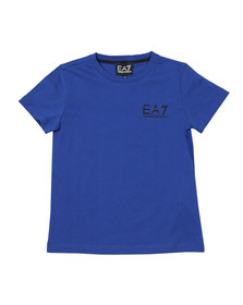 EA7 Emporio Armani Boys Blue Small  Logo T Shirt