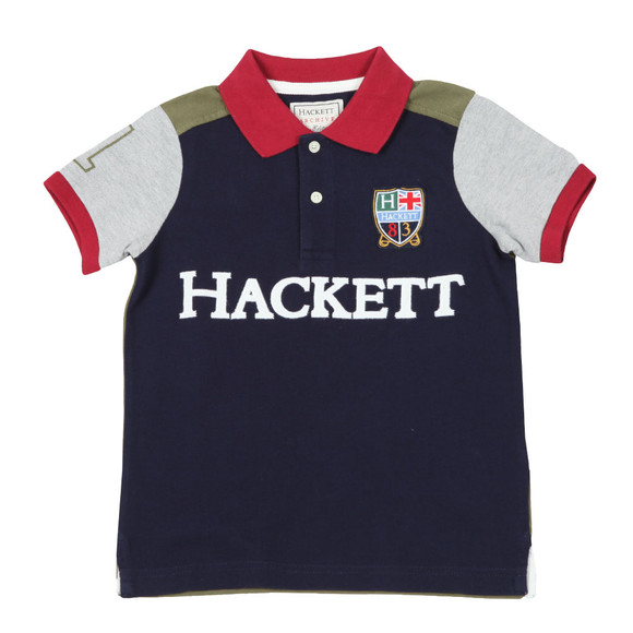 Hackett Boys Blue AMR Multi Polo Shirt main image