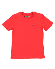 Lyle And Scott Junior Boys Red Plain Crew T Shirt