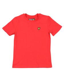 Lyle And Scott Junior Boys Red Plain Crew T Shirt