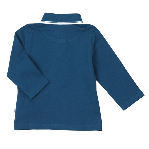 BOSS Loungewear Boys Blue Long Sleeve Polo Shirt main image