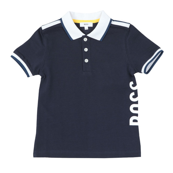 BOSS Loungewear Boys Blue J25C74 Polo Shirt main image