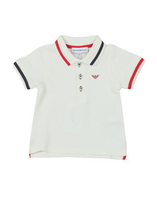 Armani Baby Boys White Tipped Polo Shirt