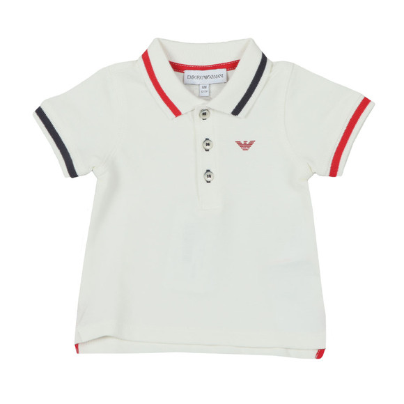 Armani Baby Boys White Tipped Polo Shirt main image