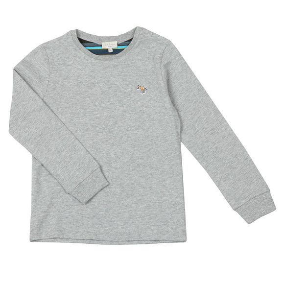 Paul Smith Junior Boys Grey Sullivan 2 Long Sleeve Tee main image