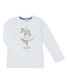 Paul Smith Junior Boys White Zebrasaurus T  Shirt