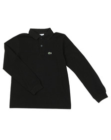 Lacoste Boys Black PJ8915 Long Sleeve Polo Shirt