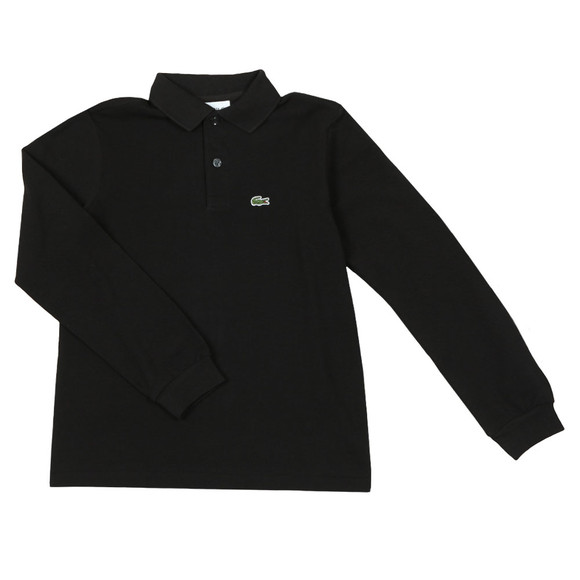 Lacoste Boys Black PJ8915 Long Sleeve Polo Shirt main image
