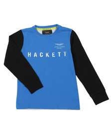 Hackett Boys Blue AMR Multi Long Sleeve T Shirt