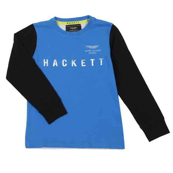 Hackett Boys Blue AMR Multi Long Sleeve T Shirt main image
