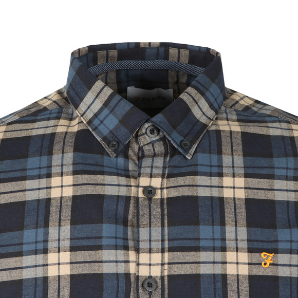 Farah Mens Blue Radley LS Check Shirt main image