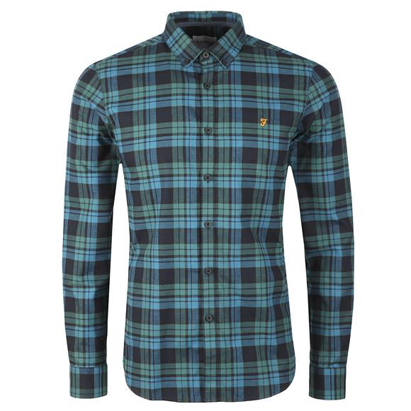 Farah Mens Green Radley LS Check Shirt main image