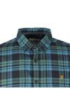 Farah Mens Green Radley LS Check Shirt