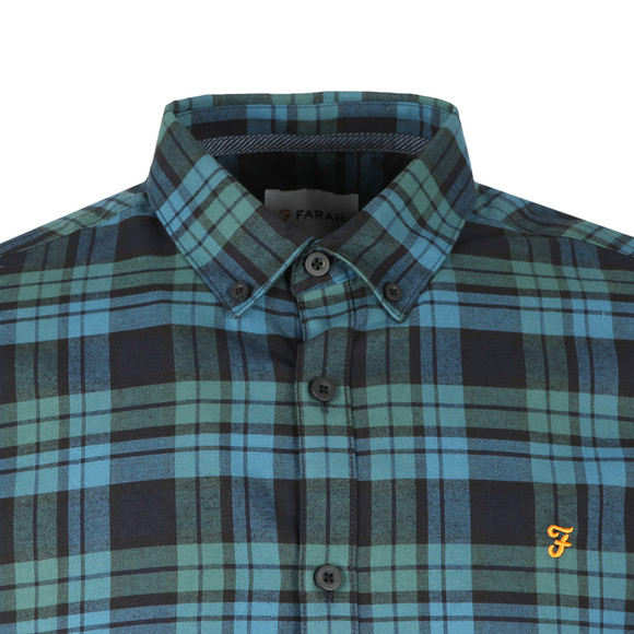 Farah Mens Green Radley LS Check Shirt main image
