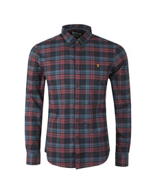 Farah Mens Red Radley LS Check Shirt