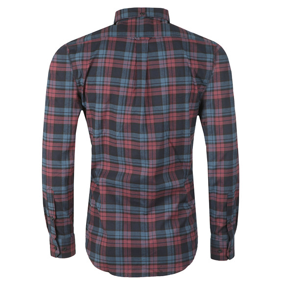 Farah Mens Red Radley LS Check Shirt main image