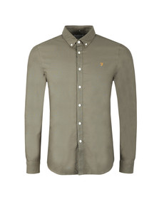 Farah Mens Green Brewer Oxford Shirt