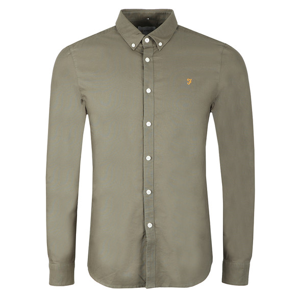 Farah Mens Green Brewer Oxford Shirt main image