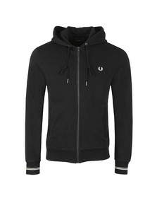 Fred Perry Mens Black Full Zip Hooded Sweat