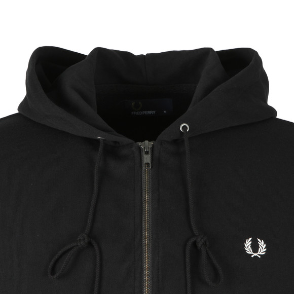 Fred Perry Mens Black Full Zip Hooded Sweat main image