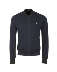 Fred Perry Mens Blue Full Zip Sweat