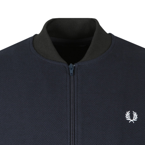 Fred Perry Mens Blue Full Zip Sweat main image