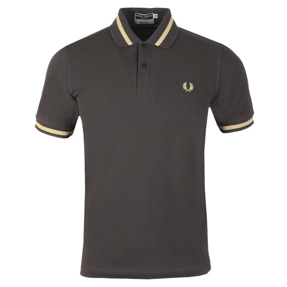 0f7da37f Fred Perry (Reissues) Mens Grey S/S Single Tipped Polo main image
