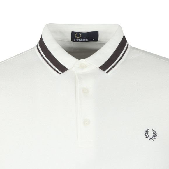 Fred Perry Mens White S/S Contrast Tipped Polo main image