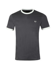 Fred Perry Sportswear Mens Grey Ringer T-Shirt