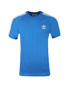 adidas Originals Mens Blue 3 Stripes Tee