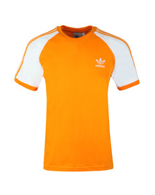 adidas Originals Mens Orange 3 Stripes Tee
