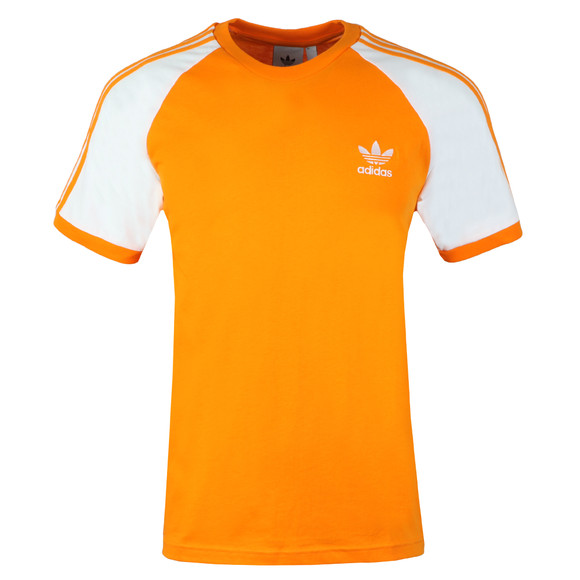 adidas Originals Mens Orange 3 Stripes Tee main image