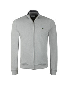 Lacoste Mens Grey SH9257 Full Zip Sweatshirt