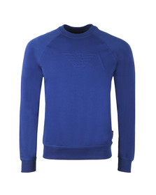 Emporio Armani Mens Blue Embosses Logo Sweat