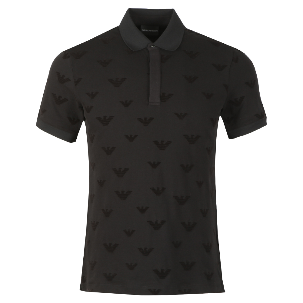 Allover Velour Eagle Polo Shirt main image